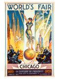 Världsutställningen i Chicago, 1933 Gicléetryck av Glen C. Sheffer