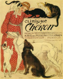 Vintage reclameposter dierenkliniek Cheron, ca. 1905 Poster van Théophile Alexandre Steinlen