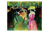 Dance at Moulin Rouge Lámina giclée por Henri de Toulouse-Lautrec