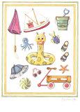 Cute Float Print by Karyn Frances Gray