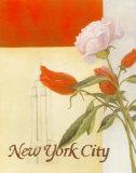 New York – Blumenbild Kunstdrucke von William Verner