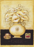 White Callas and Cherries Kunstdrucke von G.p. Mepas