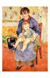 Äiti ja lapsi (Mother and Child) Giclée-vedos tekijänä Pierre-Auguste Renoir