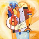 Jazz im Quadrat Kunstdrucke von Alfred Gockel