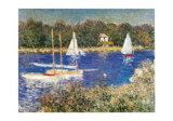 Bassin d'Argenteuil, c.1874 Plakater af Claude Monet