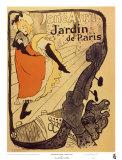 Jane Avril al Jardin de Paris Poster di Henri de Toulouse-Lautrec