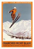 Chamonix – Mont Blanc (Schlittschuh) Kunstdrucke von  Alo (Charles-Jean Hallo)