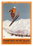 Chamonix, Mont Blanc Poster by  Alo (Charles-Jean Hallo)