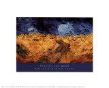 Campo de trigo con cuervos Pósters por Vincent van Gogh