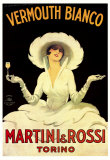 Martini and Rossi, Vermouth Bianco Plakater af Marcello Dudovich
