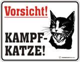 Kampfkatze Plaque en métal