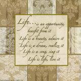 Words to Live By: Life Kunst af Marilu Windvand