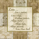 Words to Live By: Love Is Patient Posters af Marilu Windvand