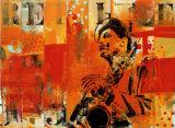 Jazz II Kunstdrucke von Thierry Vieux