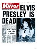 Elvis Presley is Dead Giclée-Druck