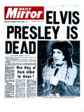 Elvis Presley is Dead Impressão giclée
