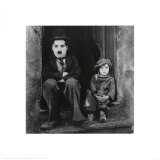 Charlie Chaplin im Film The Kid Poster