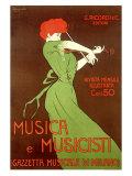 Musica e Musicisti Gicléetryck av Leonetto Cappiello
