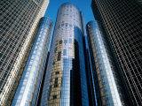 Detroit Renaissance Center, Exterior, U.S.A. Lámina fotográfica por Greg Johnston