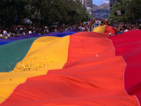 People and Banner at the Gay Day Parade, San Francisco, USA Photographic Print by Rick Gerharter