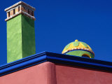 Colourfully Painted Chimney and Dome of a House in San Miguel De Allende, Guanajuato, Mexico Photographic Print by Jeffrey Becom