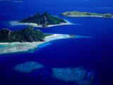 Aerial View of Islands, Fiji Reproduction photographique par David Wall