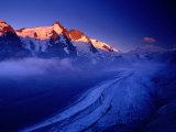 Grossglockner Rising Above Pasterze Glacier, Hohe Tauren National Park, Salzburg Province, Austria Photographic Print by Gareth McCormack