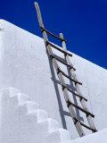 Architectural Detail with Ladder, Taos, New Mexico, USA Fotografie-Druck von Richard Cummins