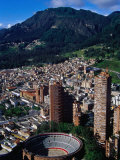 Plaza De Toros De Santamaria and Skyscraper Complex of Torres Del Parque, Bogota, Colombia Reproduction photographique par Krzysztof Dydynski