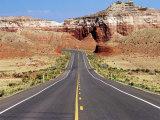 Highway 59, U.S.A. Fotografisk tryk af Oliver Strewe