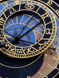 Astronomical Clock Detail in Staromestske Square, Prague, Czech Republic Impressão fotográfica por Richard Nebesky