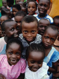 Group of Schoolchildren, Mombasa, Kenya Lámina fotográfica por Eric Wheater