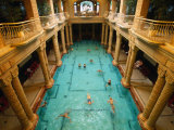 Swimmers in Gellert Thermal Baths in Budapest, Hungary Photographic Print by Martin Moos