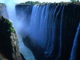 Victoria Falls, Victoria Falls,Southern Province,Zambia Fotografisk tryk af Carol Polich
