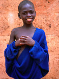 Portrait of Boy in Togoville, Togo Photographic Print by Jane Sweeney