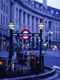 Underground Station Sign, London, United Kingdom, England Fotografie-Druck von Christopher Groenhout