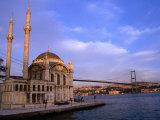 Ortakoy Camii Mosque Next to the Bosphorous River, Istanbul, Turkey Photographic Print by Simon Richmond