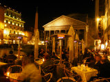 Outdoor Dining Near Pantheon, Rome, Italy Photographic Print by Martin Moos