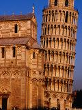 Exterior of Torre Di Pisa (Leaning Tower of Pisa), Pisa, Italy Fotografie-Druck von Damien Simonis