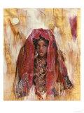 Untitled African Red Wrap Reproduction giclée Premium par Marta Gottfried