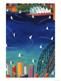 Sydney Harbour Premium Giclee Print by Ian Tremewen