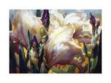 Iris Garden Premium gicléedruk van Elizabeth Horning