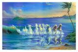 Galloping Waves Plakat af Jim Warren