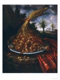 Still Life with Dates, Palatine Gallery, Florence Lámina giclée por Bartolomeo Bimbi