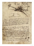 Wing Mechanism, Institut De France, Paris Giclée-Druck von  Leonardo da Vinci