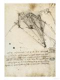 The Rudder of a Wing, Institut De France, Paris Giclée-Druck von  Leonardo da Vinci