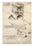 The Ideal City, View of a Building, Housed at the Institut De France, Paris Giclée-Druck von  Leonardo da Vinci