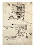 The Ideal City, View of a Building, Housed at the Institut De France, Paris Giclee Print by  Leonardo da Vinci