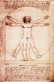 De mens van Vitruvius Poster van  Leonardo da Vinci