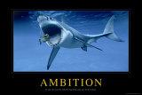 Ambitioner, på engelsk Posters